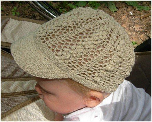 Летняя кепка для малыша крючком