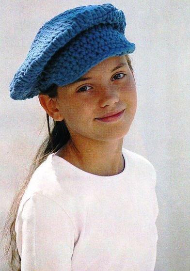 Стильная кепка для девочки крючком