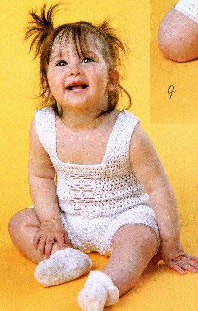 Ажурный песочник для девочки крючком