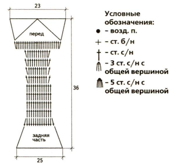 Схема вязания жёлтого