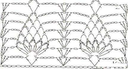 Схема вязания штанины