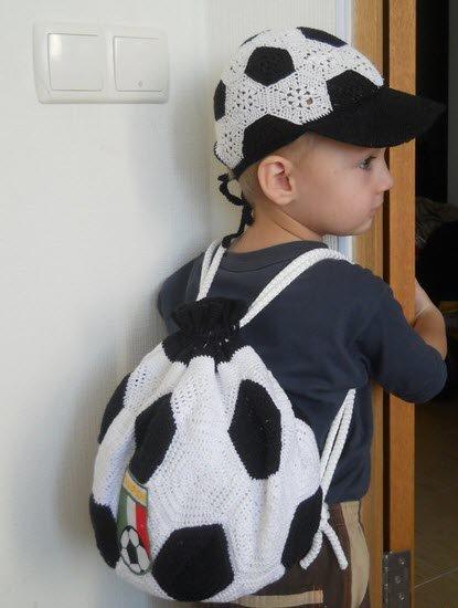 Рюкзак футбольный мяч для мальчика крючком