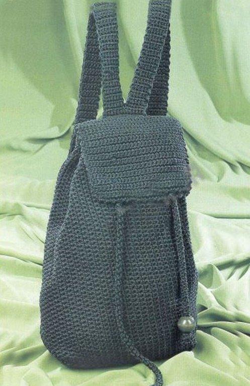 Простой рюкзак для мальчика крючком