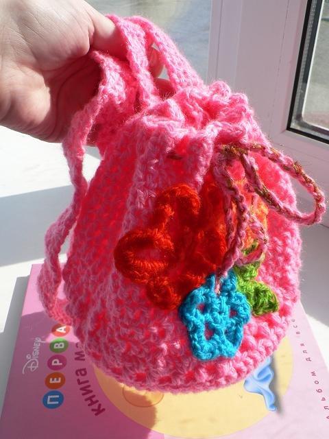 Рюкзак для девочки 1 год крючком