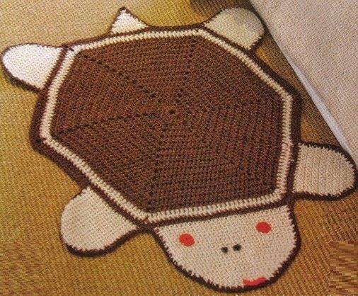 Детский коврик Черепашка крючком