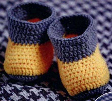 Детские ботиночки крючком
