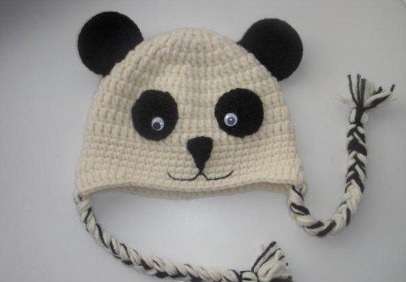 Шапочка панда для мальчика крючком