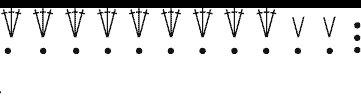 Схема вязания спирали
