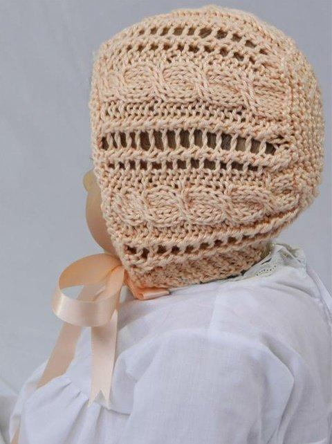 Ажурная летняя шапочка для мальчика спицами