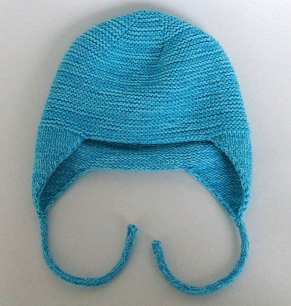 Вязаная шапочка с ушками для мальчика