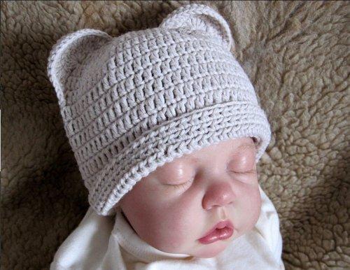 Вязание шапочки с ушками для новорожденного мальчика 86