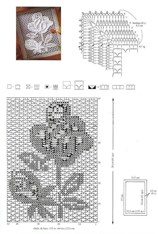 Вязание картины с описанием и схемами