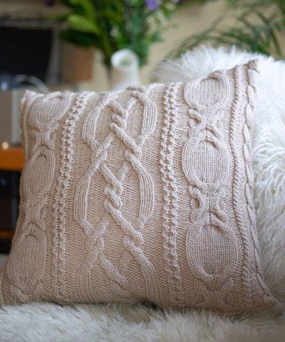 Оригинальный вязаный чехол для подушки