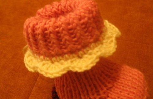 Пинетки вязание подробное