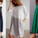 Стильная одежда из натурального льна